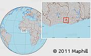 Gray Location Map of Bettie