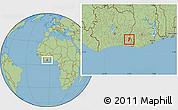 Savanna Style Location Map of Bettie