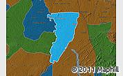 Political Map of Bettie, darken