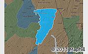 Political Map of Bettie, darken, semi-desaturated