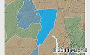 Political Map of Bettie, semi-desaturated