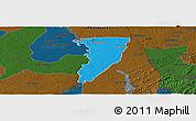 Political Panoramic Map of Bettie, darken