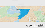 Political Panoramic Map of Bettie, lighten