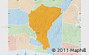Political Map of Alepe, lighten