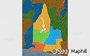 Political Map of Aboisso, darken
