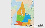 Political Map of Aboisso, lighten