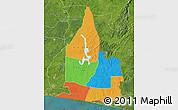 Political Map of Aboisso, satellite outside