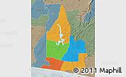Political Map of Aboisso, semi-desaturated