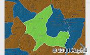 Political Map of Adzope, darken