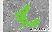 Political Map of Adzope, desaturated