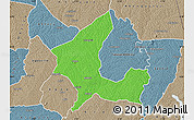 Political Map of Adzope, semi-desaturated