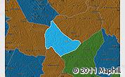 Political Map of Affery, darken