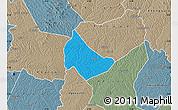 Political Map of Affery, semi-desaturated