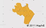 Political Map of Agnibilekro, cropped outside