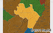 Political Map of Agnibilekro, darken