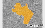 Political Map of Agnibilekro, desaturated