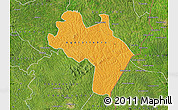 Political Map of Agnibilekro, satellite outside