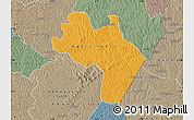Political Map of Agnibilekro, semi-desaturated