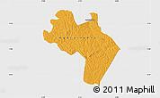 Political Map of Agnibilekro, single color outside