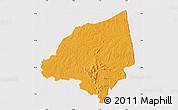 Political Map of Bondoukou, cropped outside