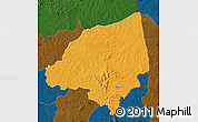 Political Map of Bondoukou, darken