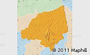 Political Map of Bondoukou, lighten