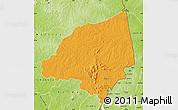 Political Map of Bondoukou, physical outside