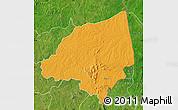 Political Map of Bondoukou, satellite outside