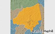 Political Map of Bondoukou, semi-desaturated