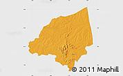 Political Map of Bondoukou, single color outside