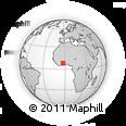 Outline Map of Bondoukou