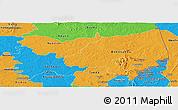 Political Panoramic Map of Bondoukou