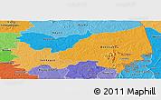 Political Shades Panoramic Map of Bondoukou
