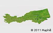 Satellite Panoramic Map of Bondoukou, cropped outside
