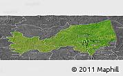 Satellite Panoramic Map of Bondoukou, desaturated