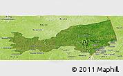 Satellite Panoramic Map of Bondoukou, physical outside