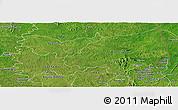 Satellite Panoramic Map of Bondoukou