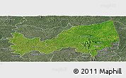 Satellite Panoramic Map of Bondoukou, semi-desaturated