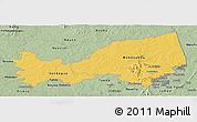 Savanna Style Panoramic Map of Bondoukou