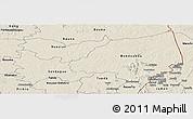 Shaded Relief Panoramic Map of Bondoukou