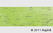 Physical Panoramic Map of Sandegue