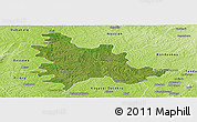 Satellite Panoramic Map of Sandegue, physical outside