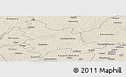 Shaded Relief Panoramic Map of Sandegue