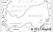Blank Simple Map of Bondoukou