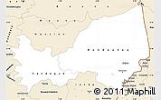 Classic Style Simple Map of Bondoukou