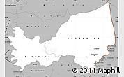 Gray Simple Map of Bondoukou