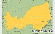 Savanna Style Simple Map of Bondoukou