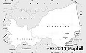 Silver Style Simple Map of Bondoukou