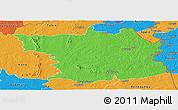 Political Panoramic Map of Bouna