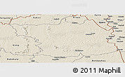 Shaded Relief Panoramic Map of Bouna
